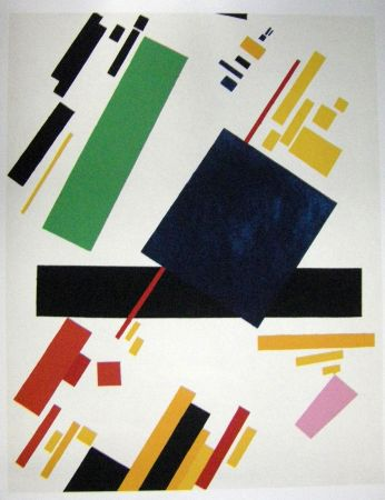 Lithographie Malevitch - Composition 1916