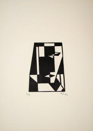 Gravure Sur Bois Maatsch - Composition, 1926