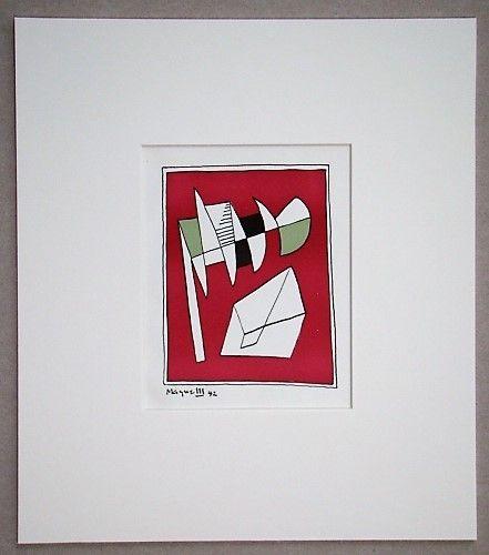 Lithographie Magnelli - Composition, 1942