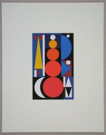 Sérigraphie Herbin - Composition, 1949