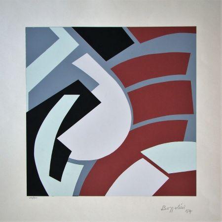 Sérigraphie Bozzolini - Composition, 1954