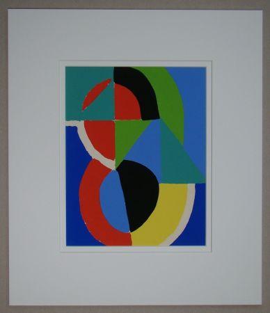 Pochoir Delaunay - Composition, 1955