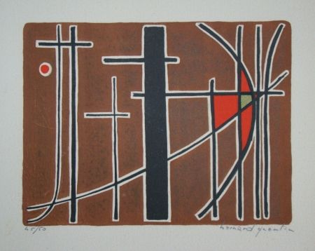 Lithographie Quentin - Composition, 1956