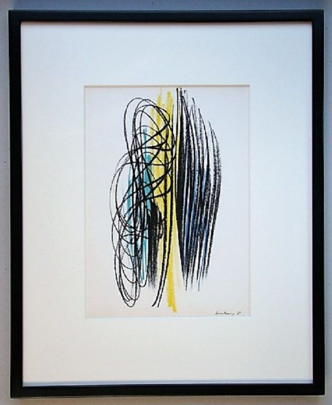 Lithographie Hartung - Composition 1958