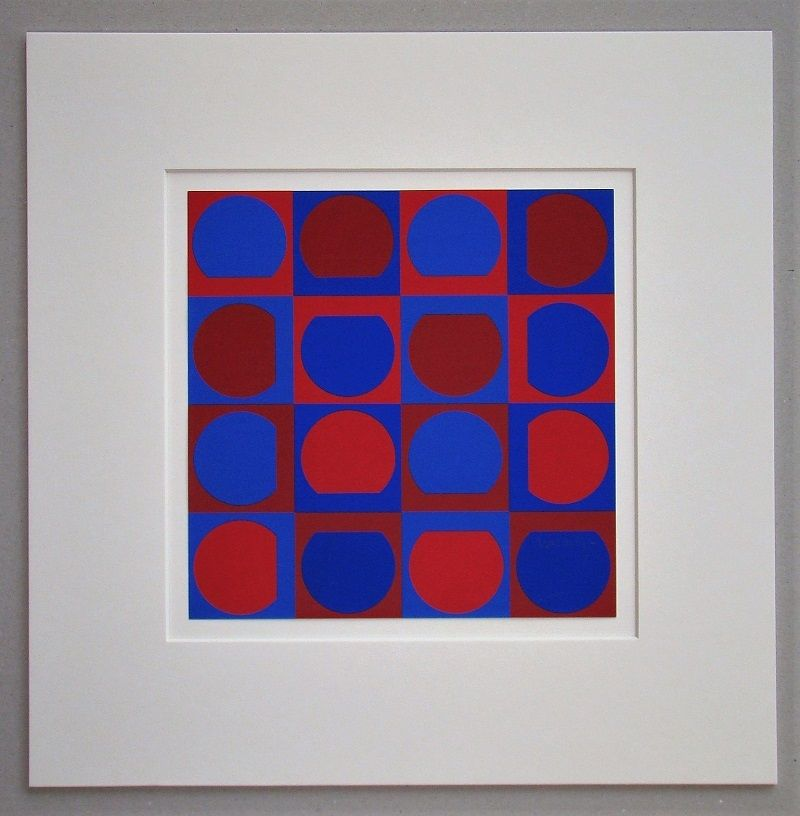 Sérigraphie Vasarely - Composition 1964