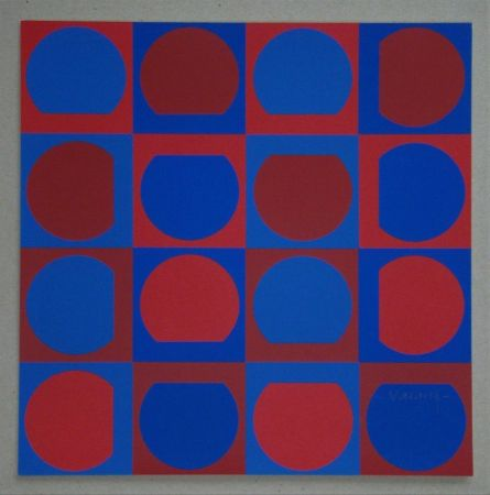 Sérigraphie Vasarely - Composition, 1964