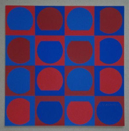 Sérigraphie Vasarely - Composition, 1964