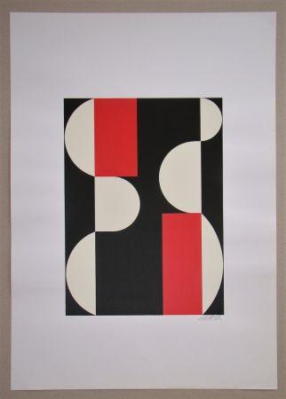 Sérigraphie Béöthy Steiner - Composition, 1970