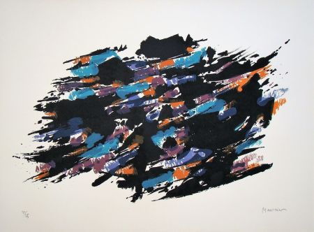 Lithographie Manessier - Composition, 1971