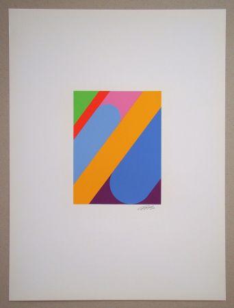Sérigraphie Béöthy Steiner - Composition, 1972
