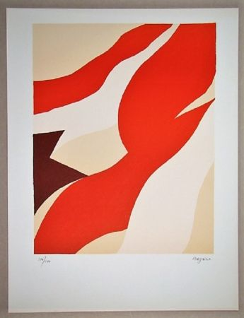 Lithographie Bazaine - Composition 1974