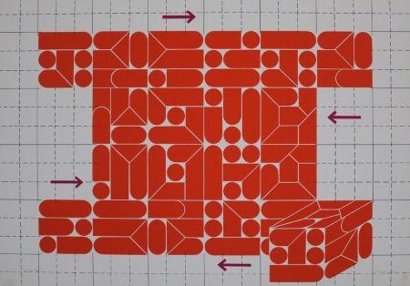 Lithographie Gräsel - Composition 2