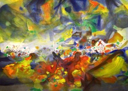 Lithographie Chu Teh Chun  - Composition 2