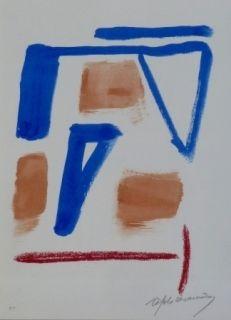 Lithographie Ràfols Casamada - Composition 20