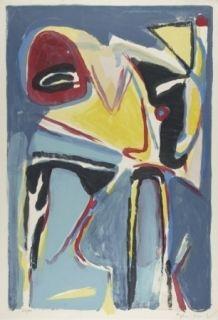 Lithographie Van Velde - Composition 279