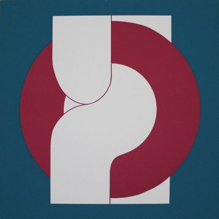 Lithographie Gräsel - Composition 4