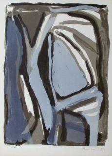 Lithographie Van Velde - Composition 66