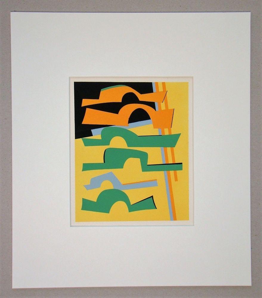 Sérigraphie Magnelli -  Composition abstrait