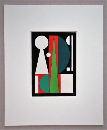 Pochoir Herbin - Composition abstrait