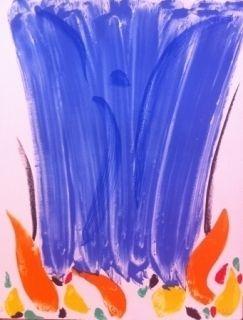 Lithographie Debré - Composition abstrait