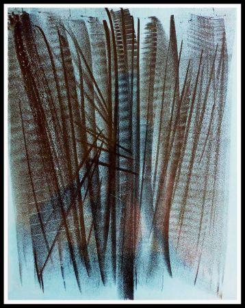 Lithographie Hartung - COMPOSITION ABSTRAITE