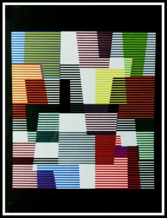 Lithographie Agam - Composition abstraite