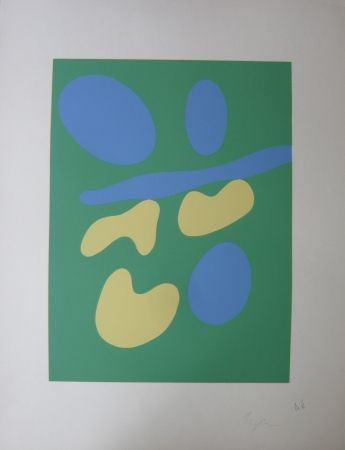 Sérigraphie Arp - Composition abstraite