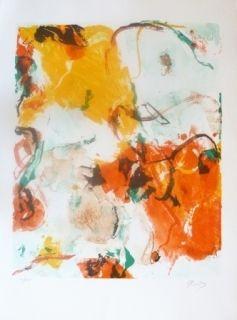 Lithographie En Jong - Composition Abstraite