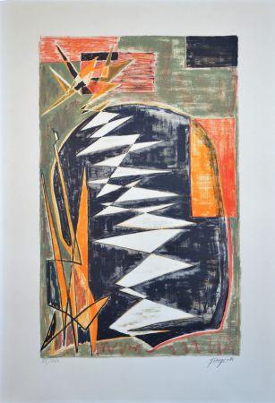 Lithographie Deyrolle - Composition abstraite