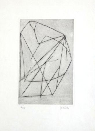Gravure Gilioli - Composition abstraite