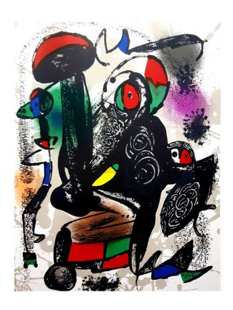 Lithographie Miró - Composition Abstraite