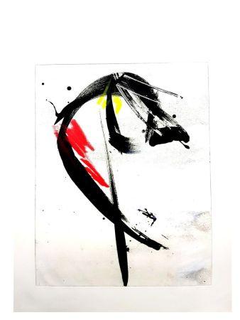 Lithographie Miotte - Composition Abstraite