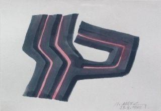 Aucune Technique Ubac - Composition Abstraite 1