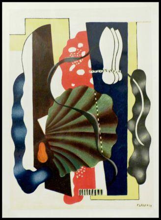 Lithographie Léger (After) - COMPOSITION AU COQUILLAGE