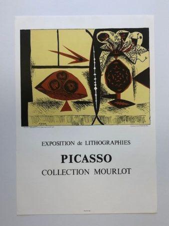 Affiche Picasso - Composition au vase de fleurs