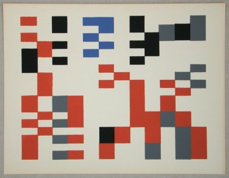 Sérigraphie Taeuber-Arp - Composition Aubette - Relief 1927