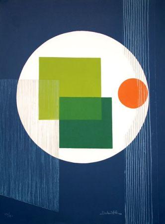Eau-Forte Debutler - Composition Bleu