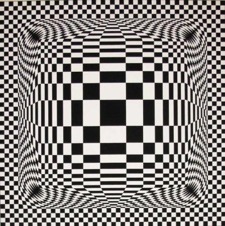 Lithographie Vasarely - Composition Cinétique