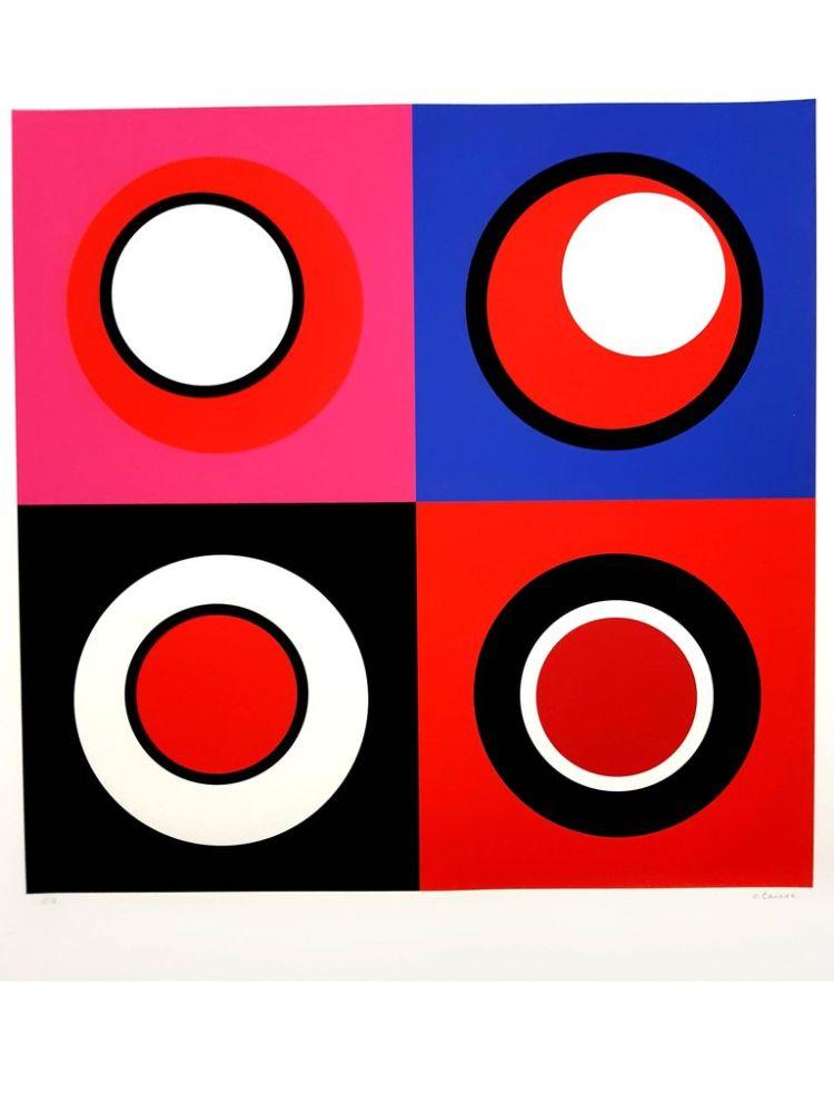 Lithographie Claisse - Composition cinétique