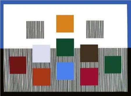 Sérigraphie Soto - Composition cinétique