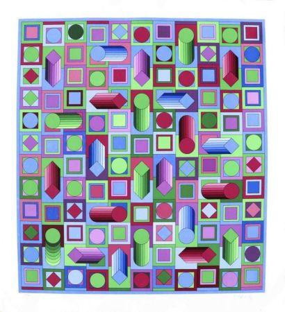 Sérigraphie Vasarely - Composition cinétique