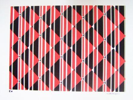 Sérigraphie Perez - Composition cinétique rouge