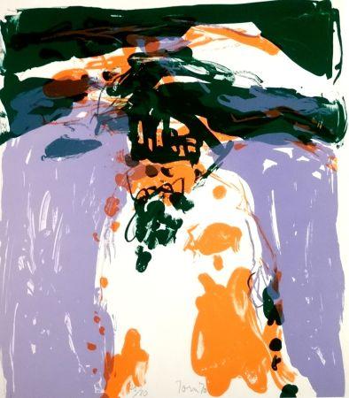 Lithographie Jorn - Composition colorée