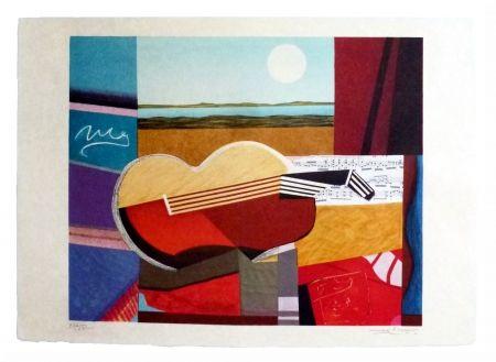 Lithographie Papart - Composition cubiste
