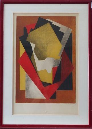 Eau-Forte Et Aquatinte Villon - Composition cubiste