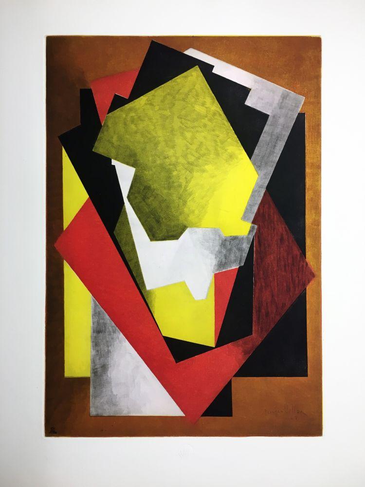 Eau-Forte Et Aquatinte Villon - Composition Cubiste (1927)
