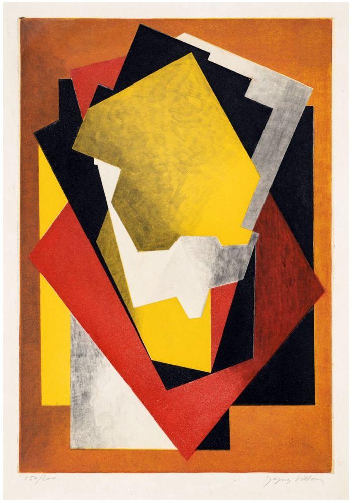 Eau-Forte Et Aquatinte Villon - Composition Cubiste (1927) signée au crayon.