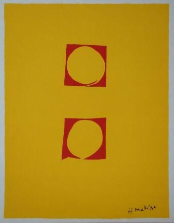 Sérigraphie Matisse - Composition Deux cercles