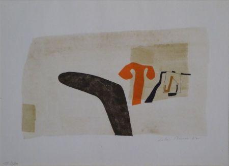 """Lithographie Bissier - Composition (""""die Dinge des Lebens verlieren ihre Namen…"""")"""