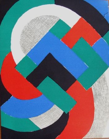 Lithographie Delaunay - Composition du XXe Siecle